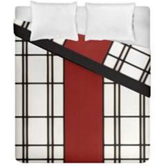 Shoji   Red Duvet Cover Double Side (california King Size) by Tatami