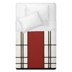 Shoji   Red Duvet Cover (single Size) by Tatami