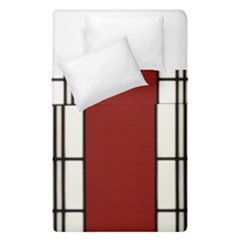 Shoji   Red Duvet Cover Double Side (single Size) by Tatami