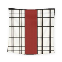 Shoji   Red Square Tapestry (small)