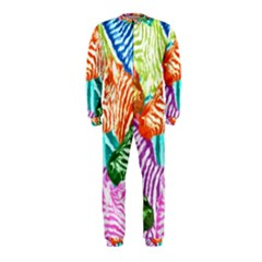 Zebra Colorful Abstract Collage Onepiece Jumpsuit (kids) by Amaryn4rt