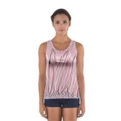 Shabby Chic Vintage Background Women s Sport Tank Top  by Amaryn4rt