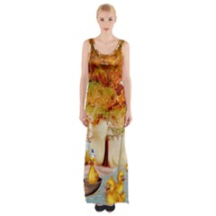 Art Kuecken Badespass Arrangemen Maxi Thigh Split Dress by Amaryn4rt