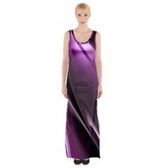 Fractal Mathematics Abstract Maxi Thigh Split Dress by Amaryn4rt