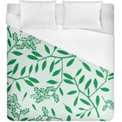 Leaves Foliage Green Wallpaper Duvet Cover (king Size) by Amaryn4rt
