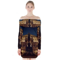 Dresden Semper Opera House Long Sleeve Off Shoulder Dress