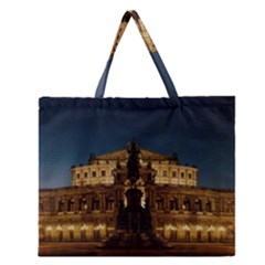 Dresden Semper Opera House Zipper Large Tote Bag by Amaryn4rt