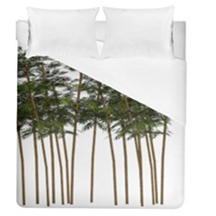 Bamboo Plant Wellness Digital Art Duvet Cover (queen Size) by Amaryn4rt