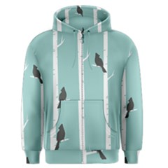 Birds Trees Birch Birch Trees Men s Zipper Hoodie by Amaryn4rt