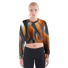 Fractal Structure Mathematics Women s Cropped Sweatshirt