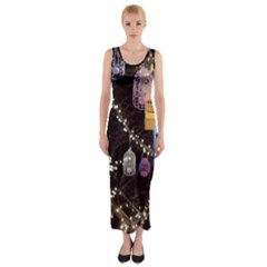 Qingdao Provence Lights Outdoors Fitted Maxi Dress by Amaryn4rt
