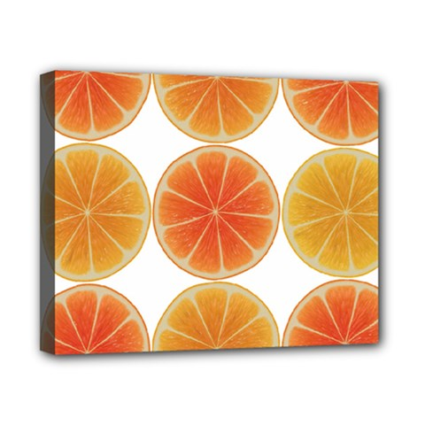 Orange Discs Orange Slices Fruit Canvas 10  X 8  by Amaryn4rt