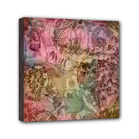 Texture Background Spring Colorful Mini Canvas 6  X 6