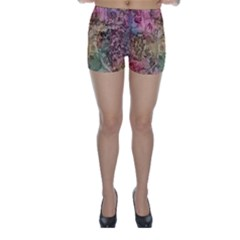 Texture Background Spring Colorful Skinny Shorts