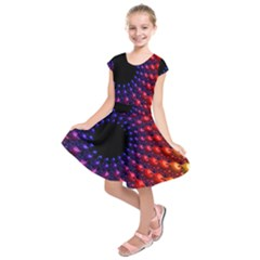 Fractal Mathematics Abstract Kids  Short Sleeve Dress by Amaryn4rt