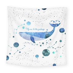Galaxy Whale Square Tapestry (large) by Wanni