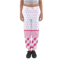 Cute Cartoon Decorative Pink Women s Jogger Sweatpants by AnjaniArt