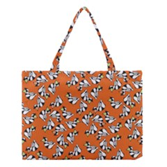 Cat Hat Orange Medium Tote Bag by AnjaniArt