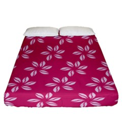 Flower Roses Fitted Sheet (queen Size) by AnjaniArt