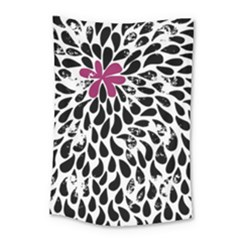 Flower Simple Pink Small Tapestry by AnjaniArt