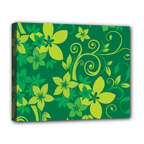 Flower Yellow Green Deluxe Canvas 20  X 16   by AnjaniArt