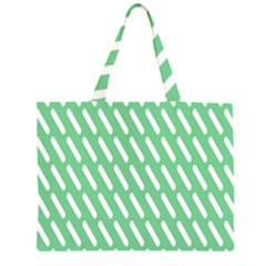 Green White Desktop Large Tote Bag by AnjaniArt