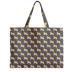 Hearts And Yellow Crossed Washi Tileable Gray Zipper Mini Tote Bag