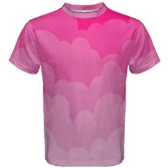 Lines Pink Cloud Men s Cotton Tee by AnjaniArt