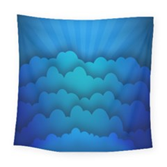 Blue Sky Jpeg Square Tapestry (large) by AnjaniArt