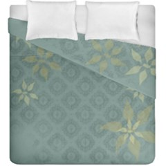 Shadow Flower Duvet Cover Double Side (king Size) by AnjaniArt