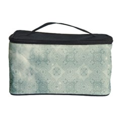 Shadow Flower Gray Cosmetic Storage Case by AnjaniArt