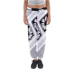 Stripe Seamless Flower Women s Jogger Sweatpants by AnjaniArt