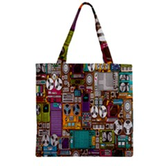 Rol The Film Strip Zipper Grocery Tote Bag by AnjaniArt