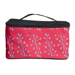 Blue Branches On Fushia Cosmetic Storage Case by Jojostore