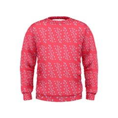 Blue Branches On Fushia Kids  Sweatshirt by Jojostore