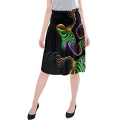 Bright Colorful Action Figures Midi Beach Skirt by Jojostore