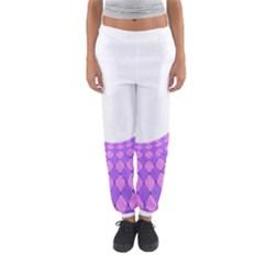 Curve Purple Pink Wave Women s Jogger Sweatpants by Jojostore