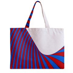 Curve Red Blue Zipper Mini Tote Bag by Jojostore