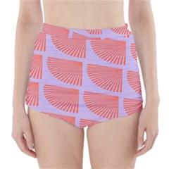 Fan High-Waisted Bikini Bottoms by Jojostore