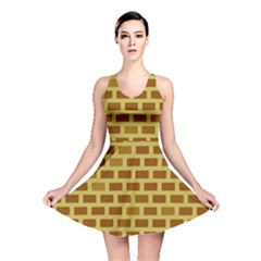 Tessellated Rectangles Lined Up As Bricks Reversible Skater Dress