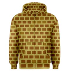 Tessellated Rectangles Lined Up As Bricks Men s Zipper Hoodie by Jojostore