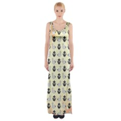 Swan Anchor Yellow Goose Maxi Thigh Split Dress by Jojostore