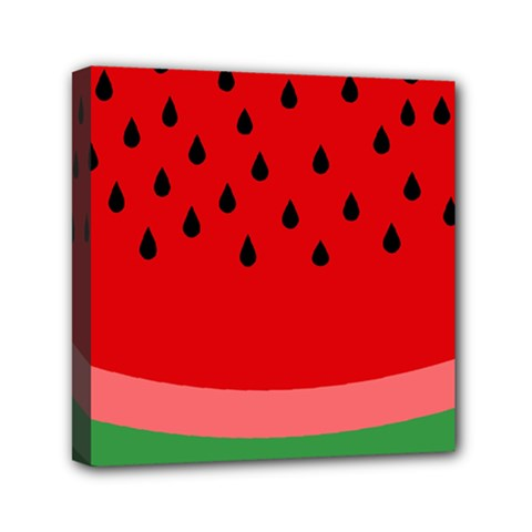 Watermelon  Mini Canvas 6  X 6  by Valentinaart