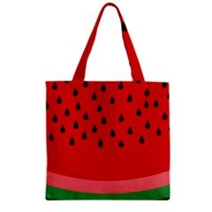 Watermelon  Zipper Grocery Tote Bag by Valentinaart