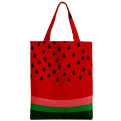 Watermelon  Zipper Classic Tote Bag by Valentinaart