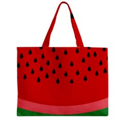Watermelon  Medium Zipper Tote Bag by Valentinaart