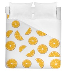 Oranges Duvet Cover (queen Size) by Valentinaart