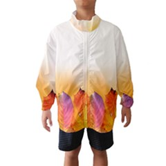 Autumn Leaves Colorful Fall Foliage Wind Breaker (kids) by Amaryn4rt