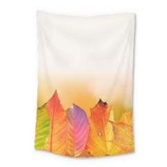 Autumn Leaves Colorful Fall Foliage Small Tapestry by Amaryn4rt