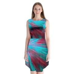 Background Texture Pattern Design Sleeveless Chiffon Dress
